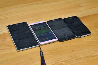 Compare phablet, Xperia Z Ultra, Galaxy Note 3, G Optimus Pro and  HTC Butterfly S