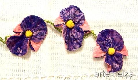 Orquídeas de fuxico - passo a passo