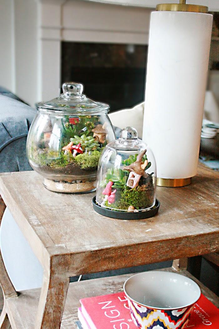 Irish village terrarium for St. Patricks day decoration or leprechaun trip