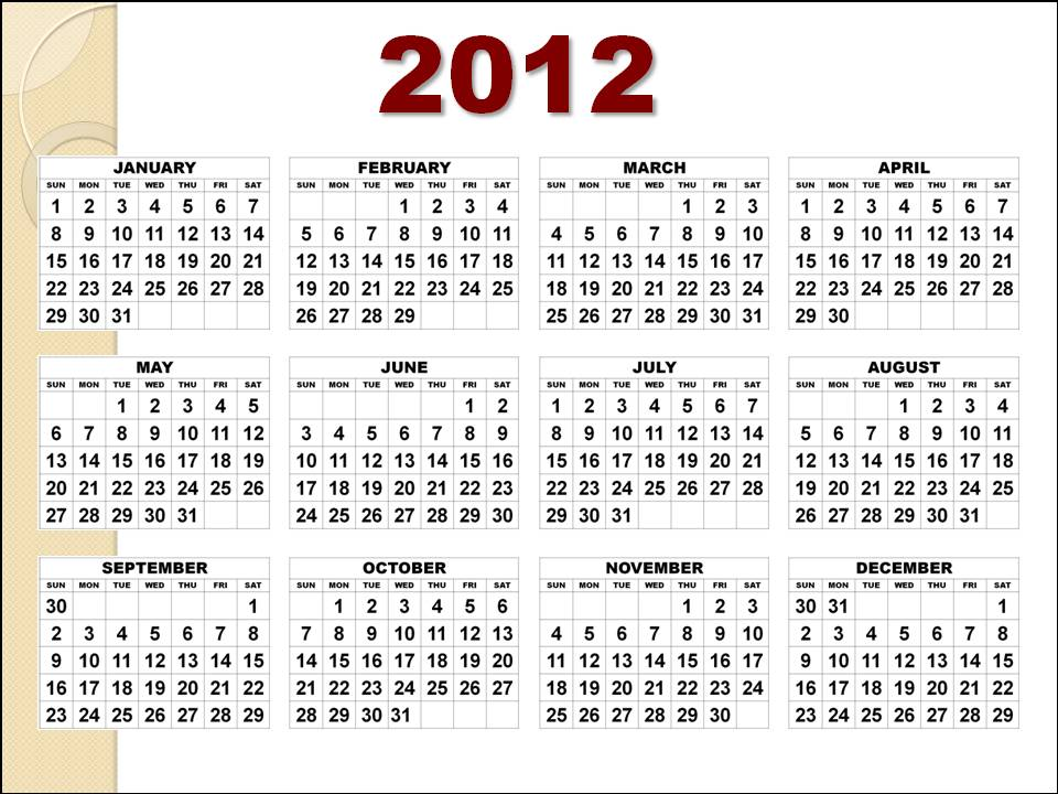yearly calendar 2012 printable. 2012 yearly printable calendar