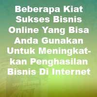 Kiat Sukses Bisnis Online