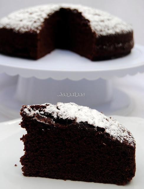 Bizcocho de Harina de Castañas y Chocolate