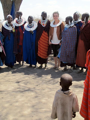 Ceremonial dance with Maasai women and children by JoseeMM