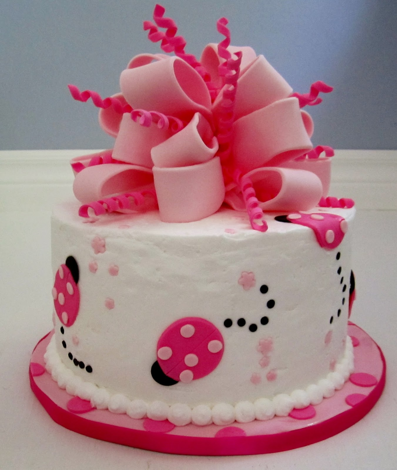 CakesOr Something Like That Pink Lady Bug 1st Birthday Cake
