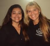 Eu e minha aluna Giselle Figueiredo, Curso Formação de Propagandista. Do curso, surgiu uma amiga.