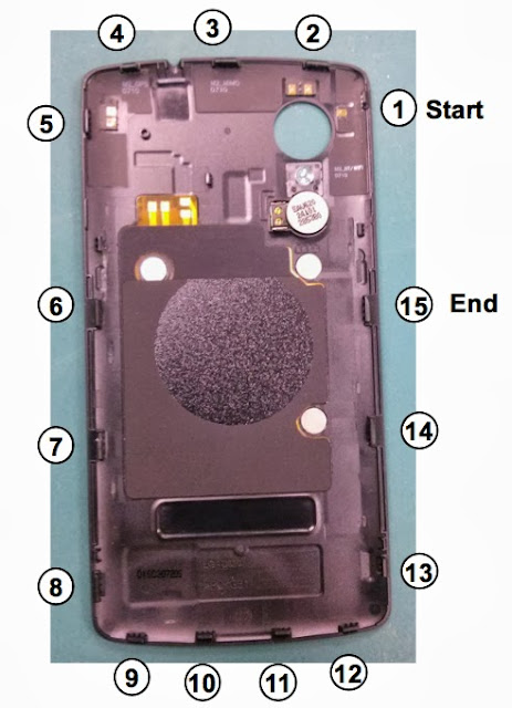 Configure leak LG Nexus 5 - LG  DE21