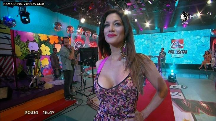 Argentina Celebrity Silvina Escudero big boobs cleavage video