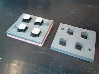 Molde  de silicone finalizado aberto
