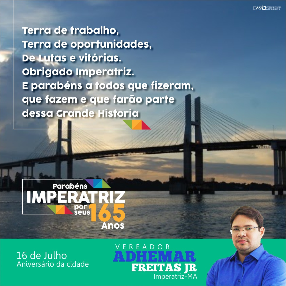 Ver. Ademar Freitas Jr - Imperatriz 165 anos.