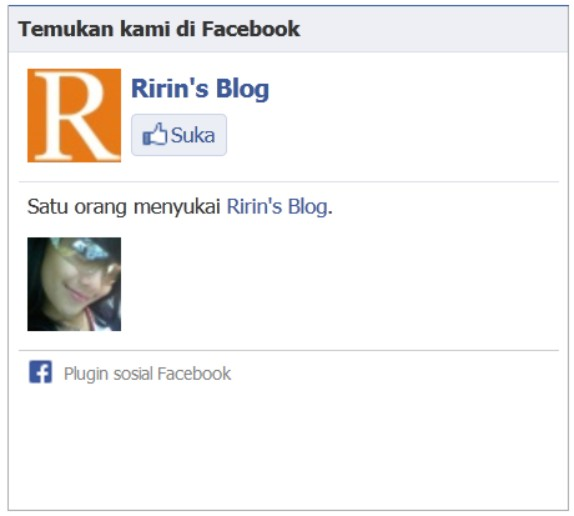 Widget Facebook Like Box di Blog Dicintai.Com