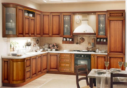 Kerala Style Wooden Kitchen cabinet