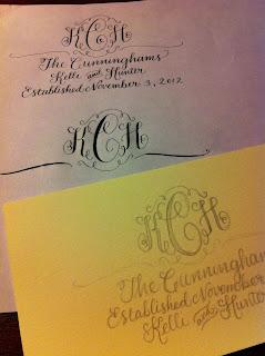 custom calligraphy monogram