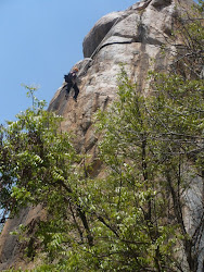 Rappelling an 80ft drop at Kondamadude by GHAC