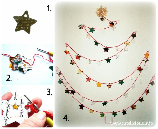 weihnachtsbaum f r die wand oder weihnachtskarten. Black Bedroom Furniture Sets. Home Design Ideas