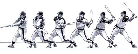 Swinging baseball bat animation not indian