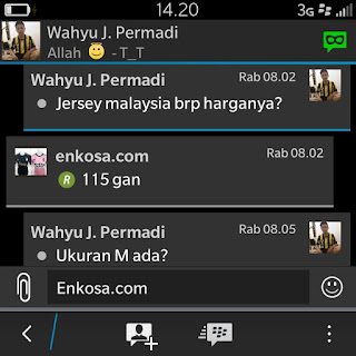 Konfirmasi harga jersey pesanan Wahyu J Permadi di enkosa sport lokasi di jakarta tokoonline terpercaya