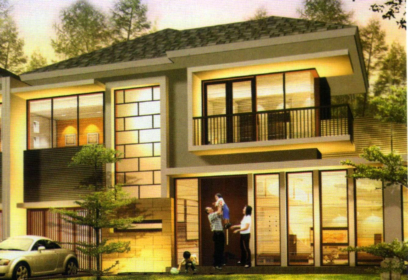 model desain rumah mewah fungsi diutamakan model rumah