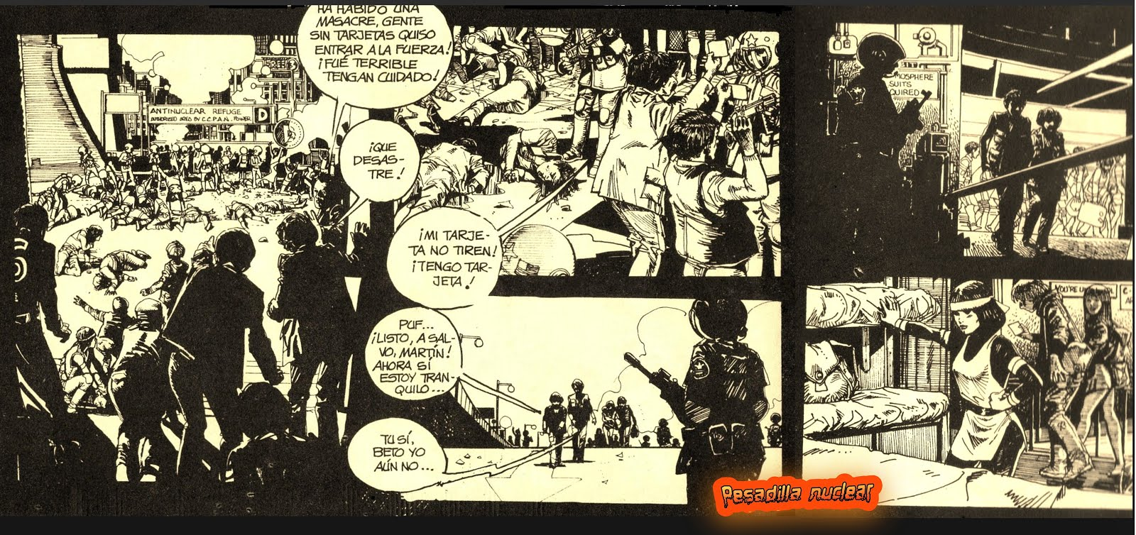 Comics que vaticinan un mundo de pesadilla durante una guerra nuclear...