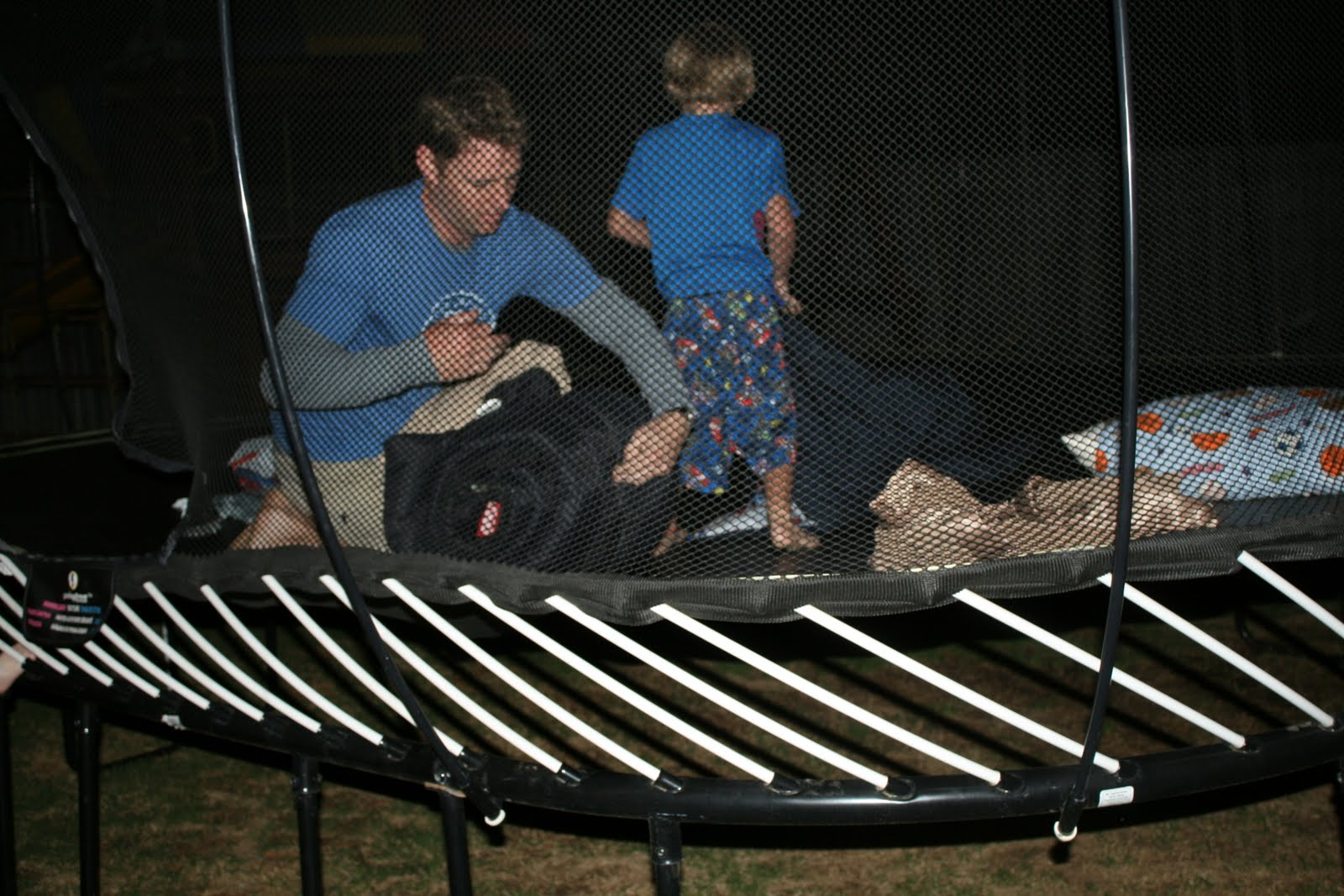 life with the hartsock 39 s sleeping on the trampoline. Black Bedroom Furniture Sets. Home Design Ideas