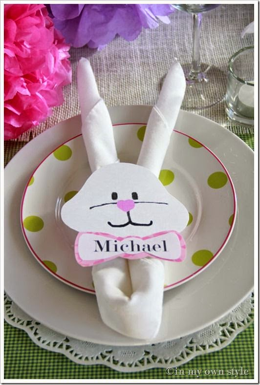Marci Coombs: Easter Place Setting Ideas.