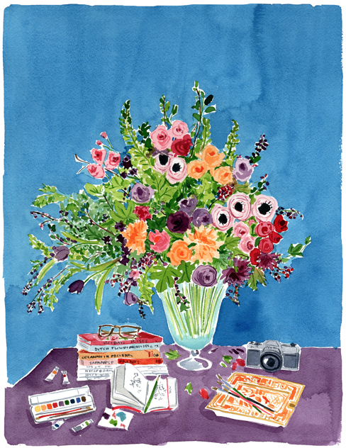 still life watercolor by Caitlin McGauley