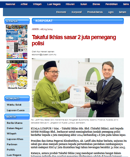 http://www.utusan.com.my/utusan/Korporat/20140308/ko_03/Takaful-Ikhlas-sasar-2-juta-pemegang-polisi#ixzz2vU5v8LKN