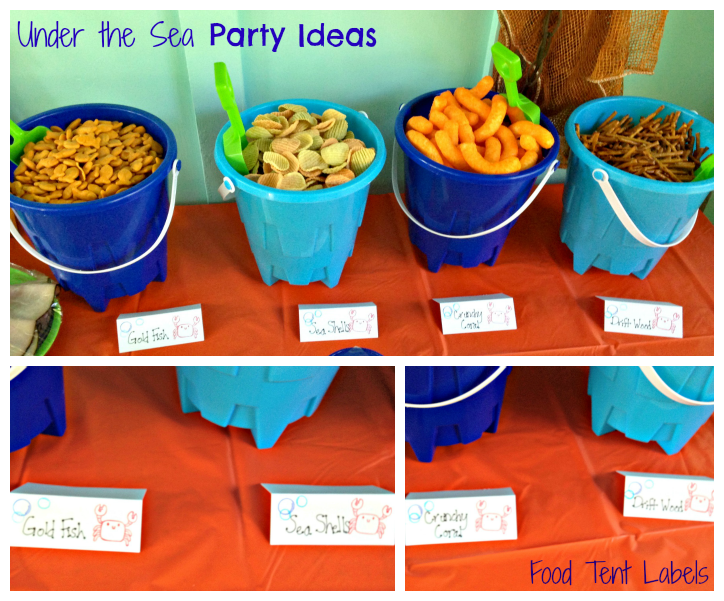 The everyday momma first birthday under the sea food for Fish themed party food