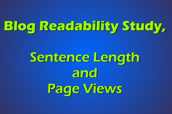 Page Views and Sentence Length, A Comparison