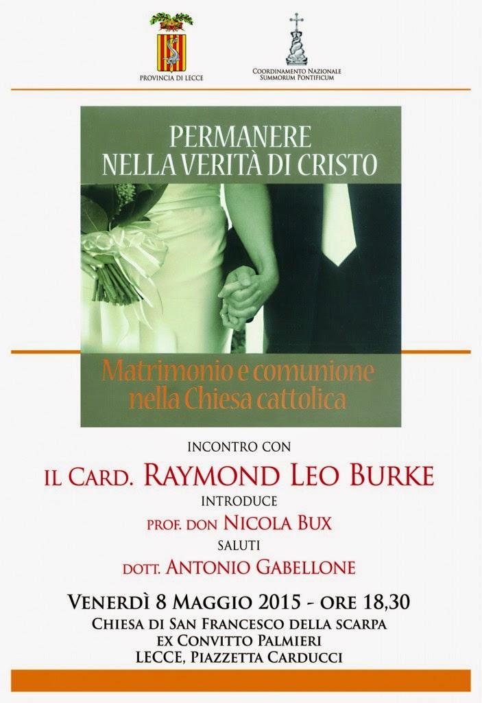 Il Matrimonio Romano Versione Latino : Chiesa e post concilio venerdì maggio cardinale burke