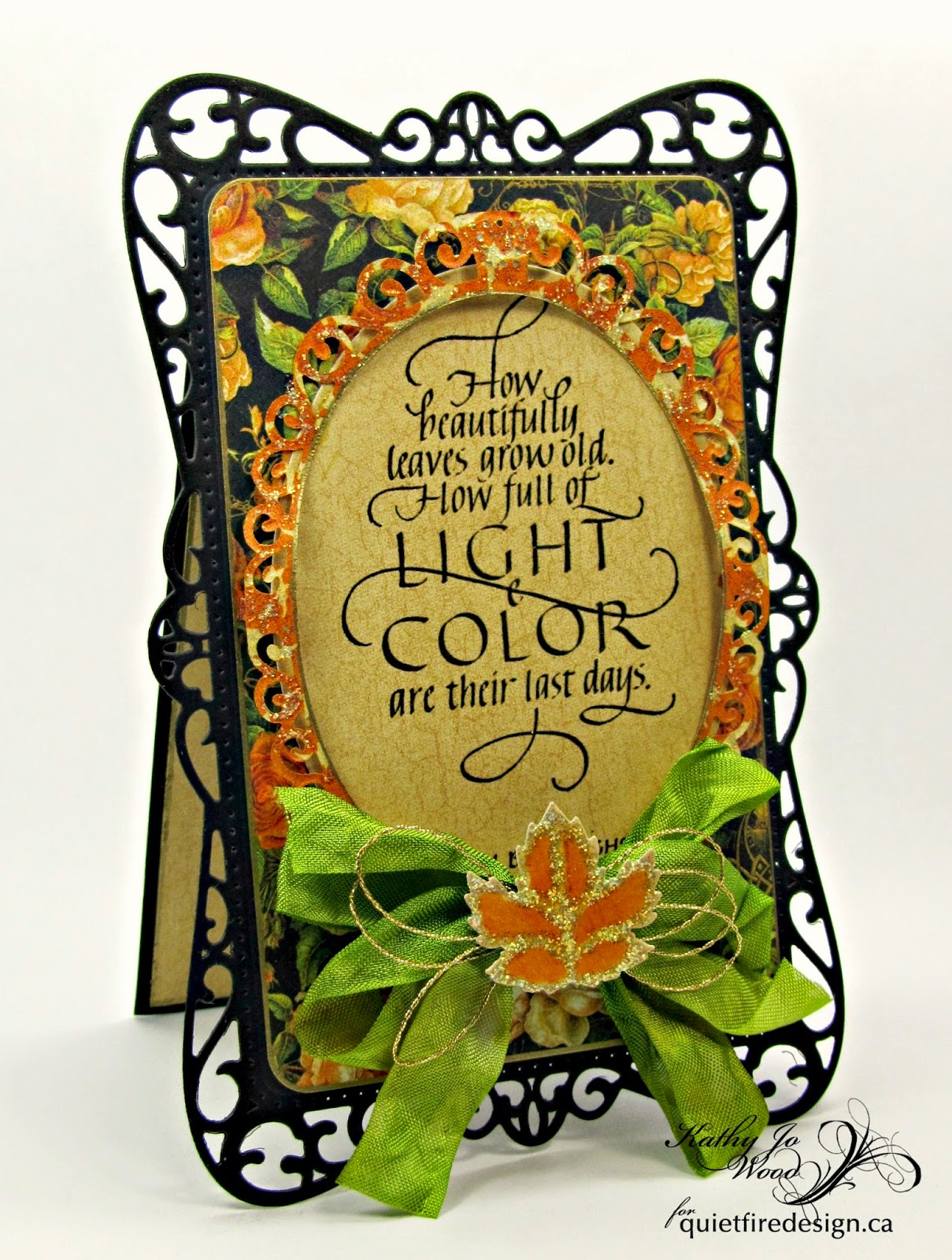 autumn, fall, card, graphic 45, an eerie tale, spellbinders, quietfire, Timeless Rectangles, elegant ovals, little leaf sets,