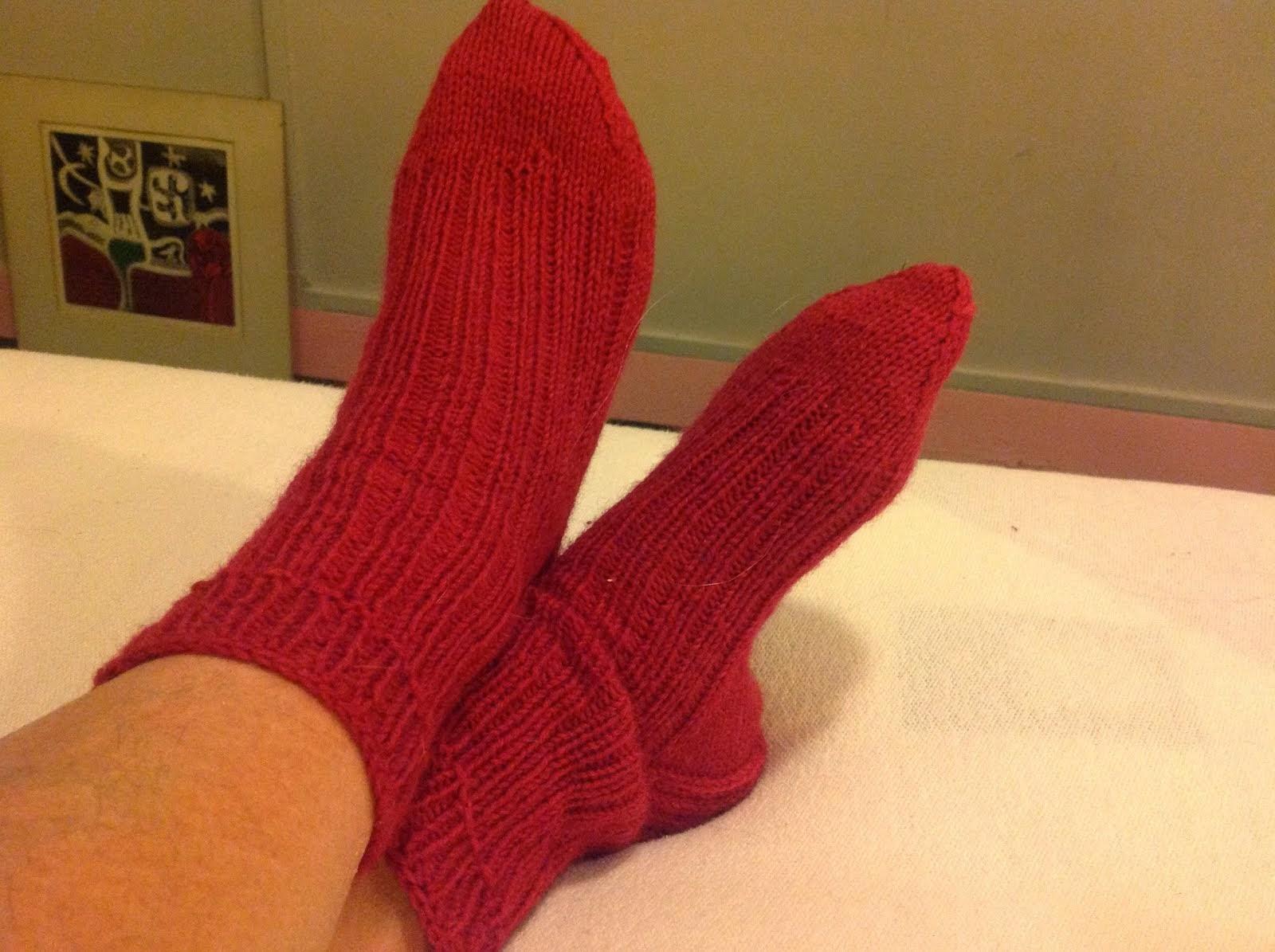 breipatroon toe up sokken met twee tegelijk