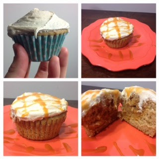 Iced harry potter butter beer butterscotch cupcakes with ganache