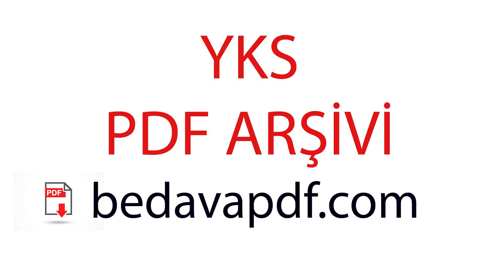 YKS PDF İNDİR