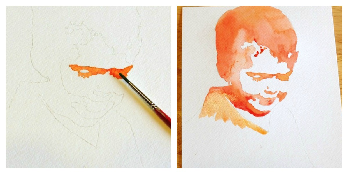 Grow creative blog easy watercolor portrait tutorial for Video tutorial on watercolor painting