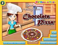 Permainan Memasak Sara Cokelat Pizza