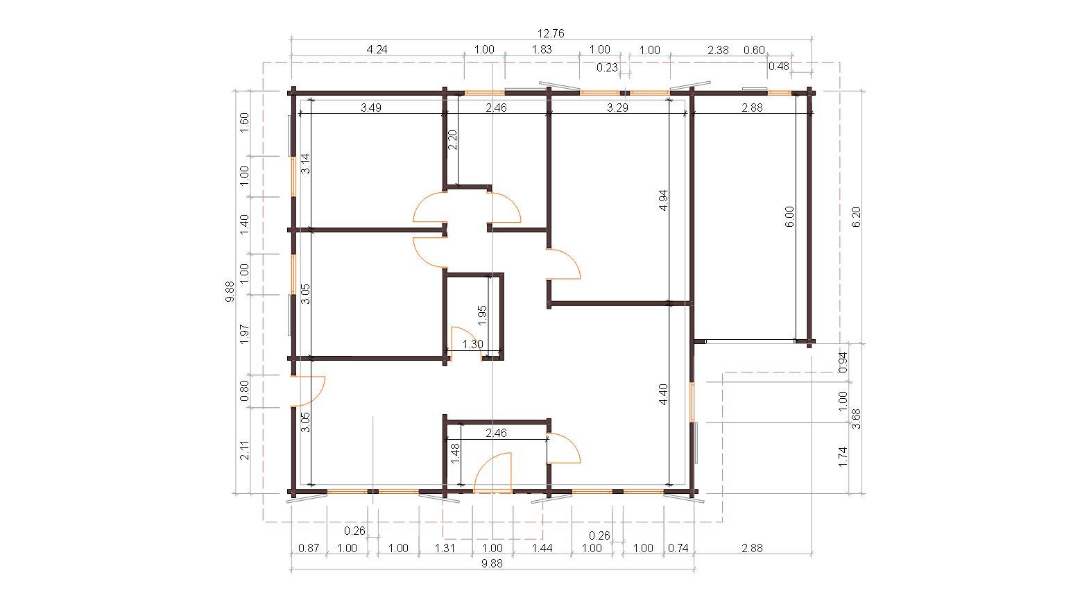 Progetti di case in legno casa 98 mq garage for Garage con planimetrie abitative