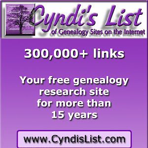 Cyndi's List (Click Logo  for Site)