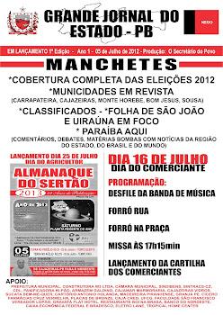 LANÇAMENTO DO GRANDE JORNAL DO ESTADO  DIA   05  DE JULLHO  2012
