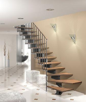 Home interior gallery stairs design ideas - Escalier interieur quart tournant ...