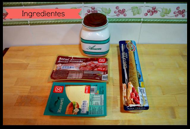 Ingredientes para elaborar palmeritas dulces y saladas