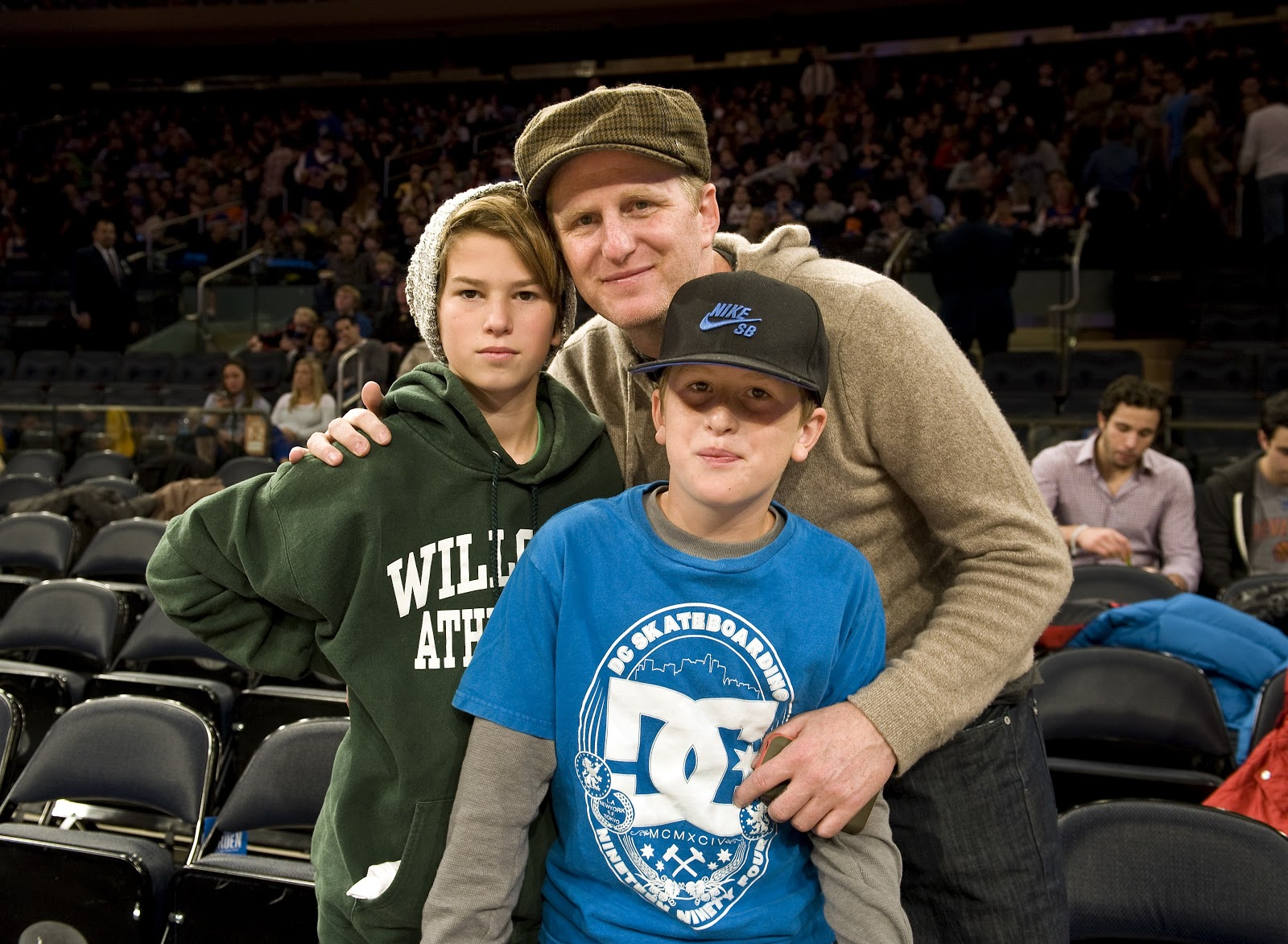 Michael Rapaport with his two sons