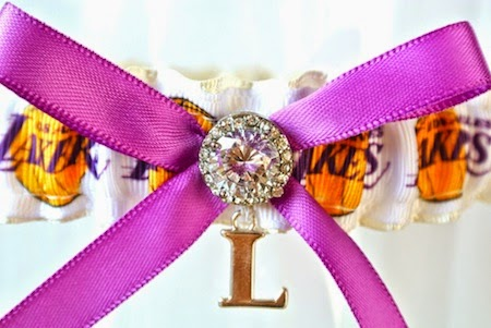 Los Angeles Lakers NBA Bridal Garter