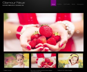 Glamour Neue Blogger Template