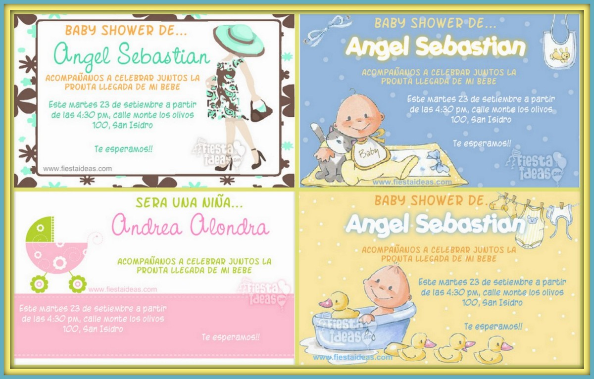 20 images for baby shower invitaciones en espanol para nina
