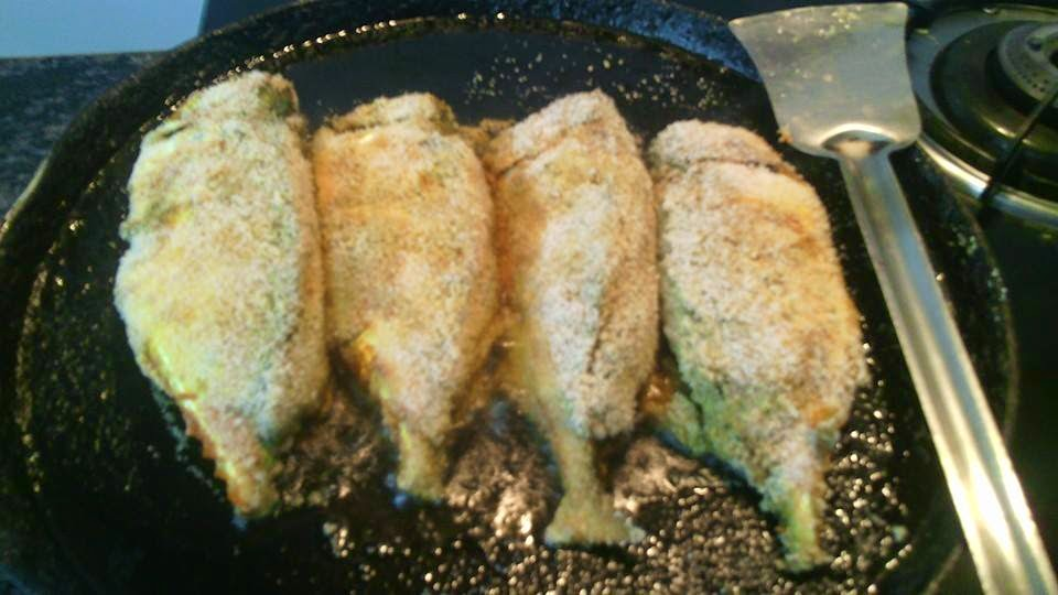 how to cook crumbed fish in fry pan