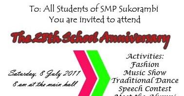 Contoh undangan pesta ulang tahun sekolah dalam bahasa inggris contoh undangan pesta ulang tahun sekolah dalam bahasa inggris invitation card stopboris Gallery