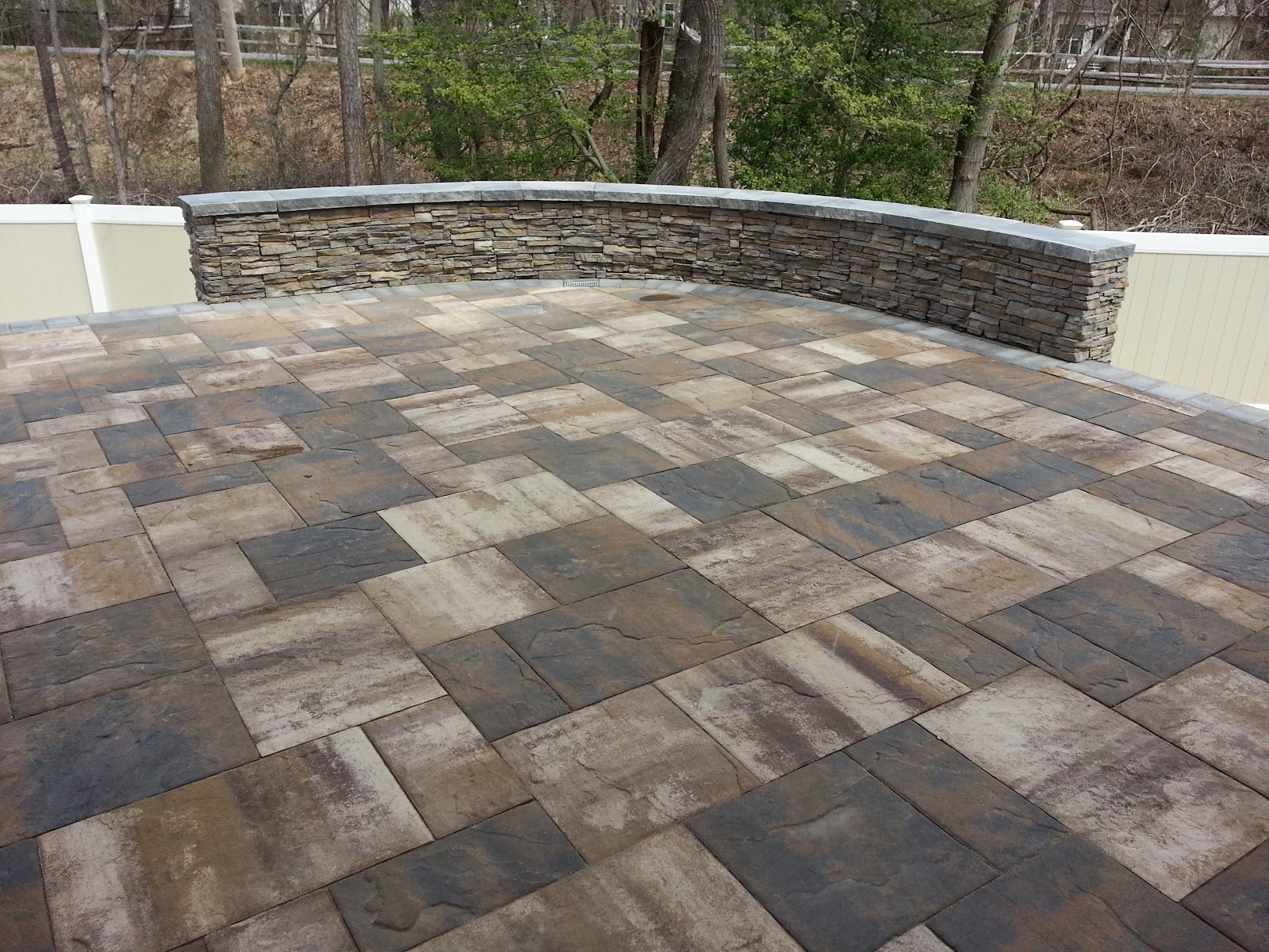 The Stone Wall Was Constructed With Concrete Block And Veneered With  Eldorado Nantucket Stacked Stone. The Wall Was Capped With The Cambridge  Ledgestone Cap ...