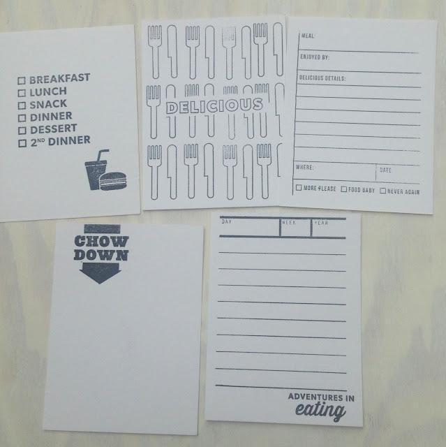 food pocket scrapbook cards