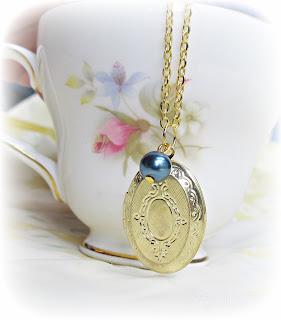 image gold locket necklace navy pearl mr darcy jane austen pride and prejudice