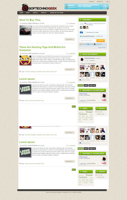 Green SEO Optimized, Template Blog SEO Terbaik 2012